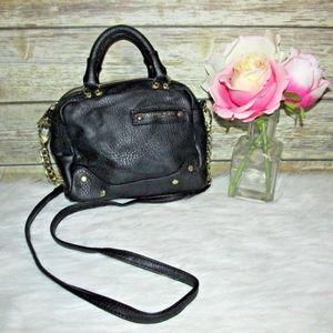 Olivia + Joy NY Black Vegan Leather Crossbody Bag